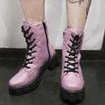 Coturno Glitter Rosa com Ziper