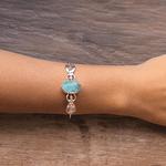 Bracelete Irmãs Deusa Água Marinha Prata | Coleção Guta Virtuoso