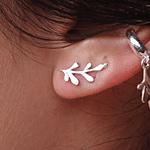 Brinco Ear Cuff Em Prata 925 - Arruda Silver   Coleção Tribus
