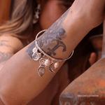 Bracelete Balangandãs Prata   Coleção Guta Virtuoso