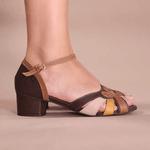 Sandália Peep Toe Retrô - Lucy - 600-01