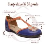 Sapato Boneca RetrÔ - Flor - 720-15