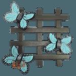 Treliça Borboleta Azul