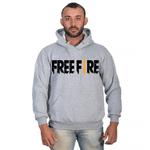 Moletom Masculino Free Fire Cinza - Selten