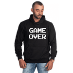 Moletom Masculino Estampado Game Over Preto - Selten