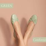 Sapatilha em couro Veneto Verde