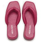 SandÁlia Flatform Em Couro Veneto Pink