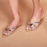 Sapato Mule Em Couro Cristal Onix
