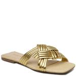 SandÁlia Flat Metalizado Ouro