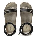 Sandália Papete em Material tecnológico Preta/ Ouro