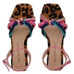 SandÁlia Flat Em PÊLO e cordões coloridos