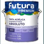 TINTA ACRILICA FOSCO ABSOLUTO BRANCO NEVE PREMIUM 3,6L FUTURA