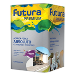 TINTA ACRILICA FOSCO ABSOLUTO BRANCO NEVE PREMIUM 18L FUTURA