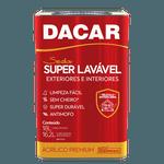 TINTA ACRÍLICA SUPER LAVÁVEL BRANCO NEVE 18L DACAR