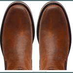 Botina Anatômica Top Franca Shoes Nobuck Castor