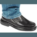Sapato Social de Conforto Masculino Anatomico Tamanhos Grandes Preto