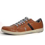 Kit 2 Pares Sapatênis Casual Top Franca Shoes Preto / Camel