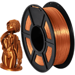 Filamento PLA+ Silk 1.75mm 1kg - Cobre