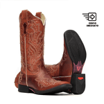 Bota Feminina - Fóssil Sella   Crush Pinhão - Freedom Flex - Vimar Boots - 13133-C-VR