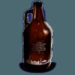 Growler de vidro 2 litro