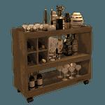 Aparador Bar Com Adega 4050 Canela - Bechara Móveis