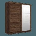 Guarda Roupa Porta de Correr Com Espelho Prático Jacaranda - Robel Móveis