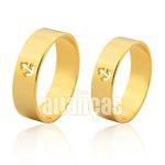 Alianças de Noivado e Casamento em Ouro Amarelo 18k 0,750 FA-1008