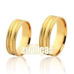 Alianças de Noivado e Casamento em Ouro Amarelo 18k 0,750 FA-1126