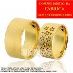 Alianças de Noivado e Casamento em Ouro Amarelo 18k 0,750 FA-615