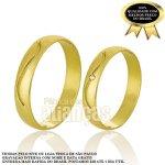 Alianças de Noivado e Casamento em Ouro Amarelo 18k 0,750 FA-733