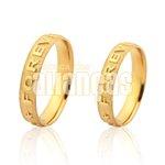 Alianças de Noivado e Casamento em Ouro Amarelo 18k 0,750 FA-1034