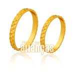 Alianças de Noivado e Casamento em Ouro Amarelo 18k 0,750 FA-171