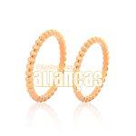 Alianças de Noivado e Casamento em Ouro Rose 18k 0,750 FA-986-R