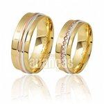 Alianças de Noivado e Casamento em Ouro Amarelo 18k 0,750 FA-288