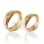 Alianças de Noivado e Casamento em Ouro Amarelo 18k 0,750 FA-449