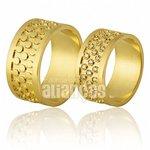 Alianças de Noivado e Casamento em Ouro Amarelo 18k 0,750 FA-704