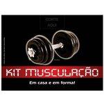Kit Musculação Emborrachado - 14 kg