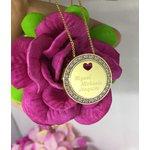 Gargantilha Mandala Em Banho de Ouro Cravejada em Zircônias