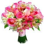 Buquê de noiva pink