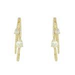 Brinco Argola Zircônia Lesprit LB14081WGL Dourado Cristal