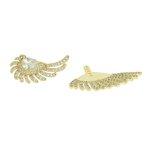 Brinco Ear Jacket Zircônia Lesprit LB17821WGL Dourado Cristal