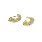 Brinco Ear Jacket Zircônia Lesprit LB17941WGL Dourado Cristal