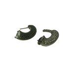 Brinco Ear Jacket Zircônia Lesprit LB17941WBOBK Ródio Negro Preto e Cristal