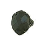 Anel Zircônia Lesprit LA06221BOBK Ródio Negro Preto