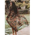 Saida de praia - Kimono longo Strelitzia