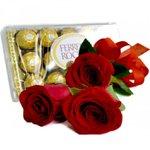 Trio de Rosas e Ferrero