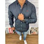 Camisa Jeans Manga Longa - DGraud