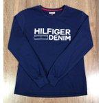 Camiseta Manga Longa Tommy Hilfiger - Azul marinho Copia