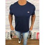 d388c7c1651 Camiseta Lacoste Lisa -Azul Marinho Logo Colorido ...