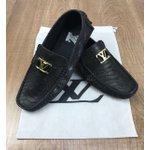 Mocassim Louis Vuitton - Diferenciado Preto Brilhante
